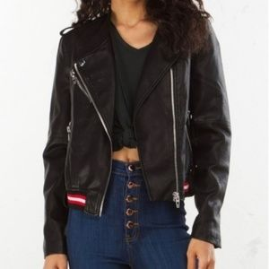 NWT Blank NYC Vegan Faux Leather Bomber Jacket S